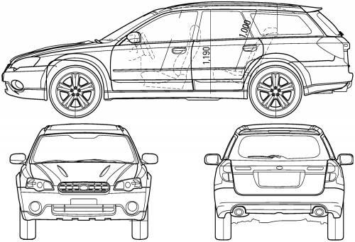 Subaru Legacy Outback (2005) Original image dimensions: 1500 x 1027px