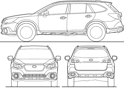 subaru outback coloring pages - photo#36