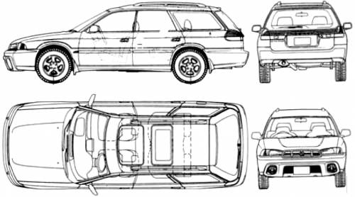 The-Blueprints.com - Blueprints > Cars > Subaru > Subaru Outback ...