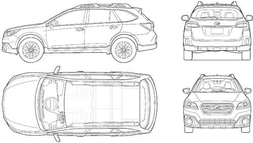 Blueprints > Cars > Subaru > Subaru Outback (2016)