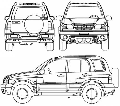 the blueprints cars suzuki suzuki grand vitara 5 door 2005. Black Bedroom Furniture Sets. Home Design Ideas