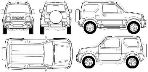 blueprints cars suzuki suzuki jimny hard top 2007. Black Bedroom Furniture Sets. Home Design Ideas