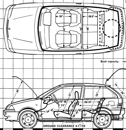the blueprints cars suzuki suzuki swift 1 3 gti 1989. Black Bedroom Furniture Sets. Home Design Ideas