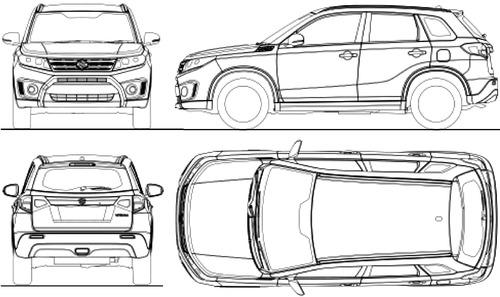 blueprints cars suzuki suzuki vitara 2015. Black Bedroom Furniture Sets. Home Design Ideas