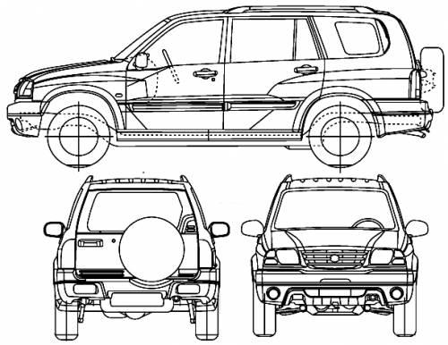 the blueprints cars suzuki suzuki vitara xl 7 2005. Black Bedroom Furniture Sets. Home Design Ideas