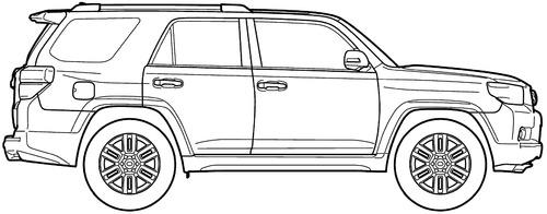 blueprints  u0026gt  cars  u0026gt  toyota  u0026gt  toyota 4runner  2011