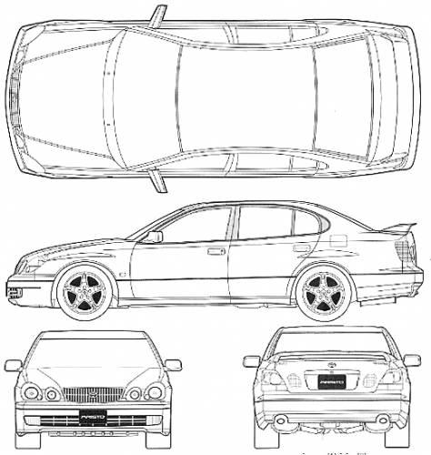 The blueprints blueprints cars toyota toyota aristo toyota aristo v300 2000 malvernweather Image collections