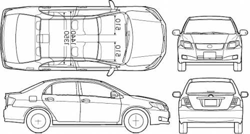 blueprints  u0026gt  cars  u0026gt  toyota  u0026gt  toyota corolla axio  2007