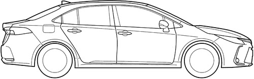 Blueprints > Cars > Toyota > Toyota Corolla E120 (2019)