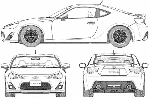 The blueprints blueprints cars toyota toyota gt 86 2012 toyota gt 86 2012 malvernweather Image collections