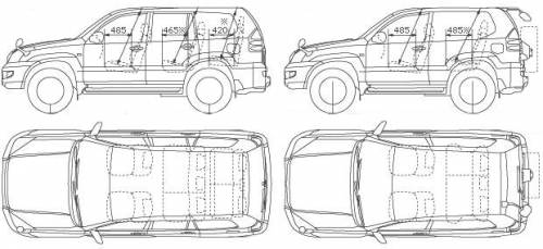 The Blueprints Cars Toyota Toyota Land Cruiser Prado 2005