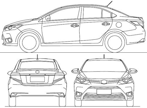 The blueprints blueprints cars toyota toyota yaris toyota yaris sedan 2015 malvernweather Image collections