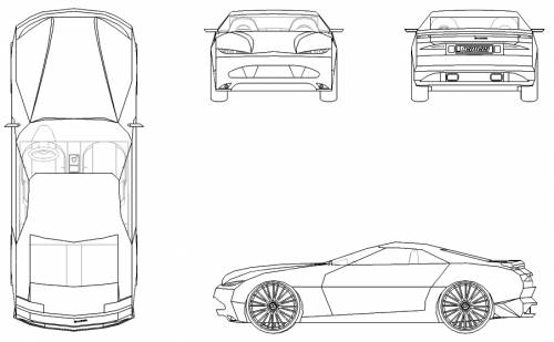 Blueprints > Cars > Various Cars > Baiser Concept Car (Prototype)