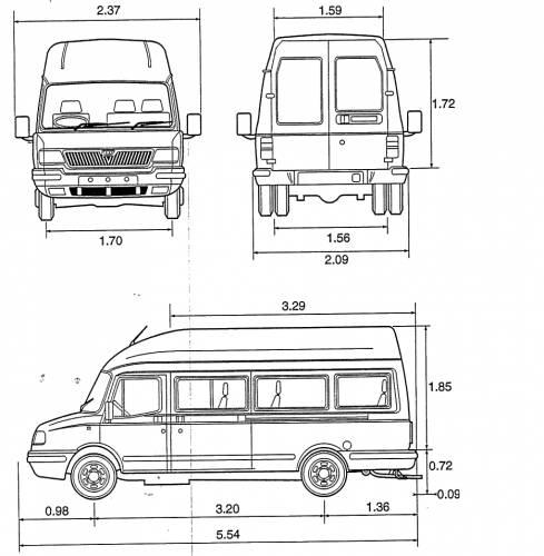blueprints  u0026gt  cars  u0026gt  various cars  u0026gt  ldv convoy mini bus 17