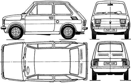 blueprints  u0026gt  cars  u0026gt  various cars  u0026gt  polski fiat 126p