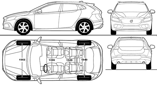 blueprints cars volvo volvo v40 cross country 2014. Black Bedroom Furniture Sets. Home Design Ideas