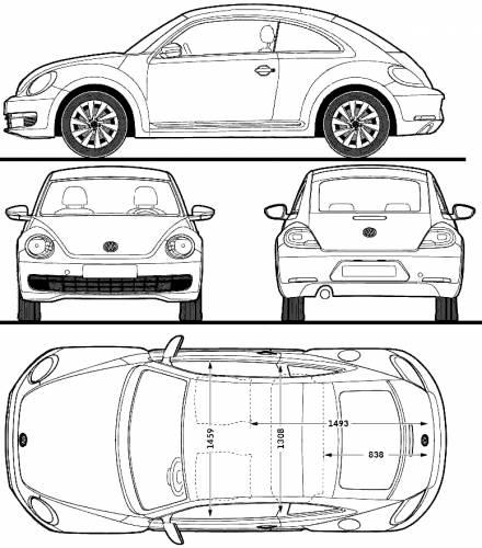 Volkswagen_beetle_(2012) on Volkswagen Beetle Drawing
