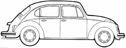 dibujo de volkswagen escarabajo