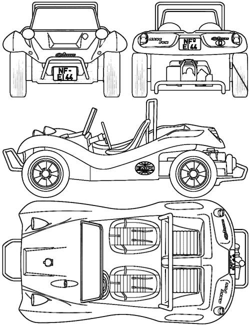 Blueprints U003e Cars U003e Volkswagen U003e Volkswagen Buggy
