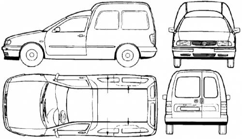 the blueprints cars volkswagen volkswagen caddy s2. Black Bedroom Furniture Sets. Home Design Ideas