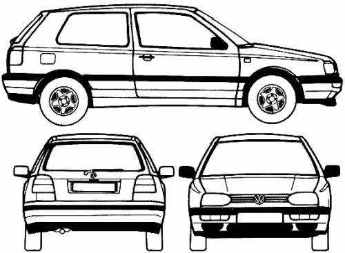 Blueprints cars volkswagen volkswagen golf 3 door 1995 volkswagen golf 3 door 1995 malvernweather Image collections