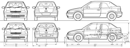 Vector requests volkswagen golf mk 3 cabrio this request has been created from this blueprint volkswagen golf mk 3 malvernweather Choice Image