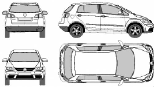 the blueprints cars volkswagen volkswagen golf plus 2007. Black Bedroom Furniture Sets. Home Design Ideas