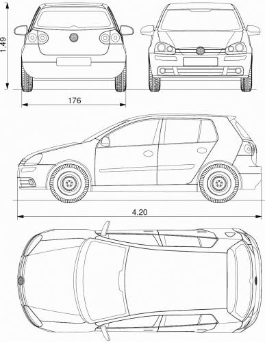 the blueprints cars volkswagen volkswagen golf v 2004