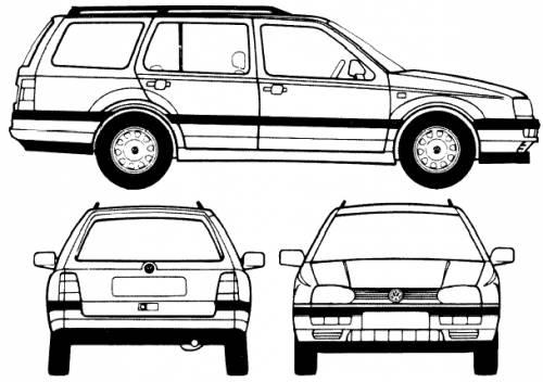 volk wagon  volkswagen golf variant masse