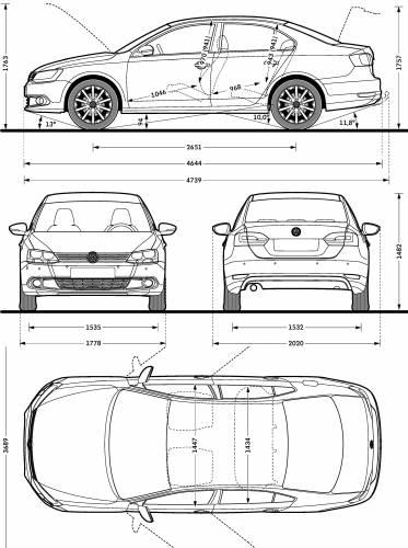 the blueprints cars volkswagen volkswagen jetta 2010. Black Bedroom Furniture Sets. Home Design Ideas