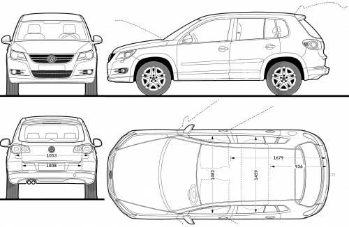 blueprints cars volkswagen volkswagen tiguan trend 2008. Black Bedroom Furniture Sets. Home Design Ideas