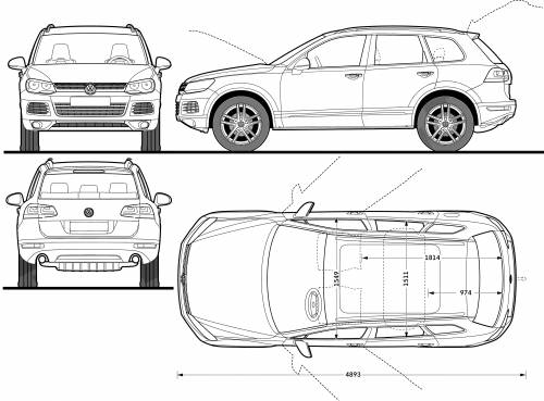 the blueprints cars volkswagen volkswagen touareg 2011