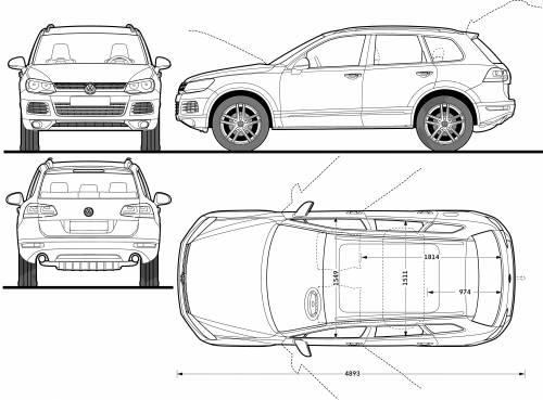 volkswagen touareg dimensions
