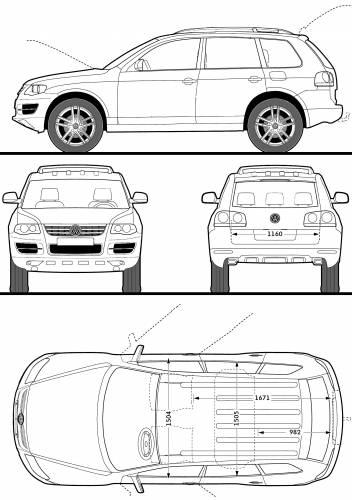 blueprints cars volkswagen volkswagen touareg r50 2009. Black Bedroom Furniture Sets. Home Design Ideas