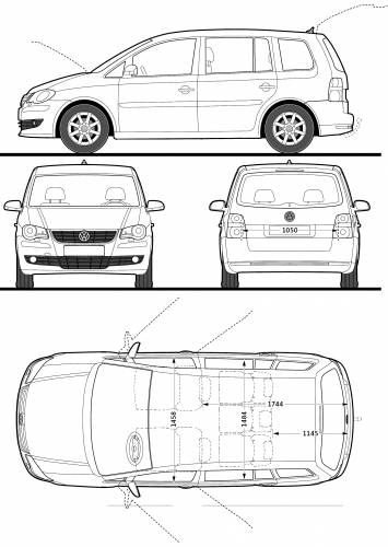 dimensions of vw passat