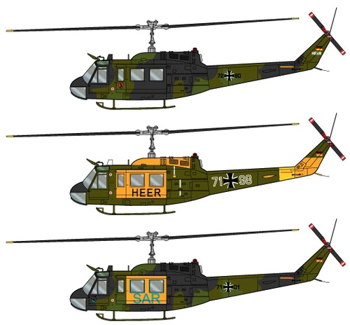 The-Blueprints.com - Blueprints > Helicopters > Bell > Bell UH-1D Heer