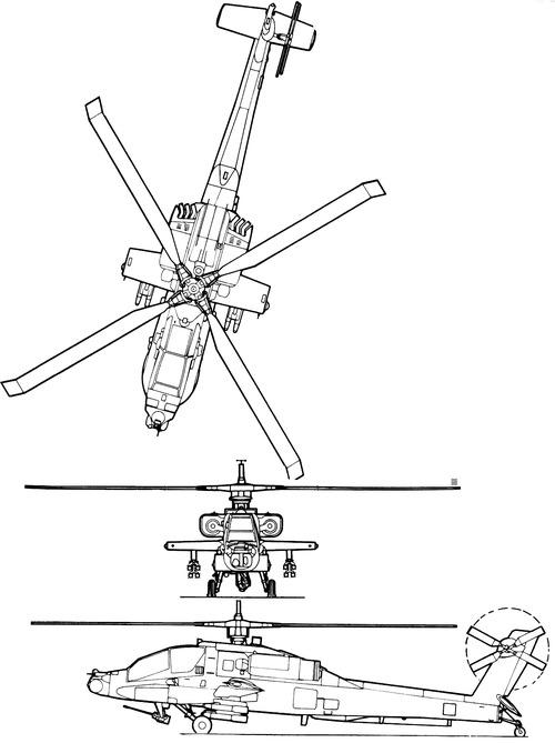 Mcdonnell Douglas Apache Diagram