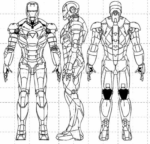 Planos de los trajes de Iron man - Imagui
