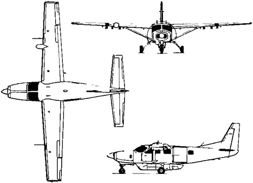 the blueprints modern airplanes cessna cessna 208 caravan u 27a. Black Bedroom Furniture Sets. Home Design Ideas