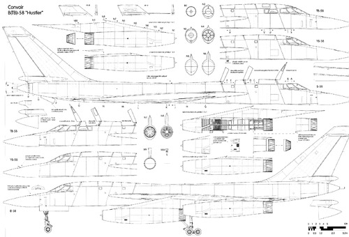 B-58 hustler drawings