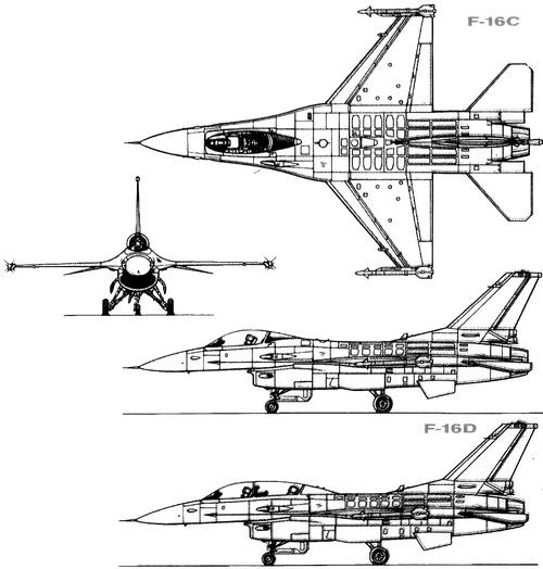 Blueprints > Modern airplanes > General Dynamics > General ...