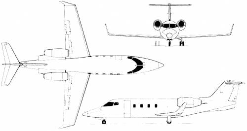 The blueprints blueprints modern airplanes learjet learjet 54 55 56 longhorn malvernweather Choice Image