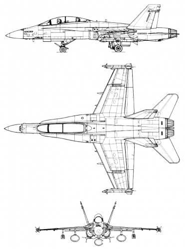 mcdonnell_douglas_f_a_18b_hornet 42269 blueprints \u003e modern airplanes \u003e mcdonnell douglas \u003e mcdonnell