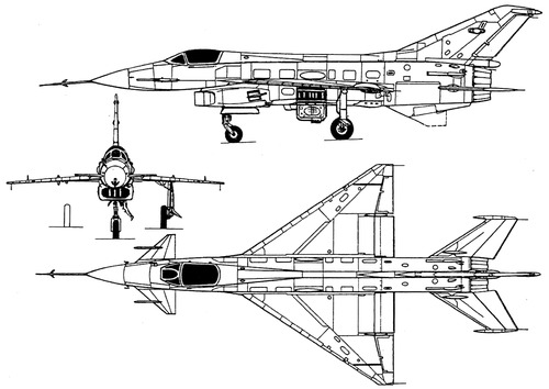 The blueprints blueprints modern airplanes mikoyan mikoyan gurevich mig 21f je 8 malvernweather Gallery