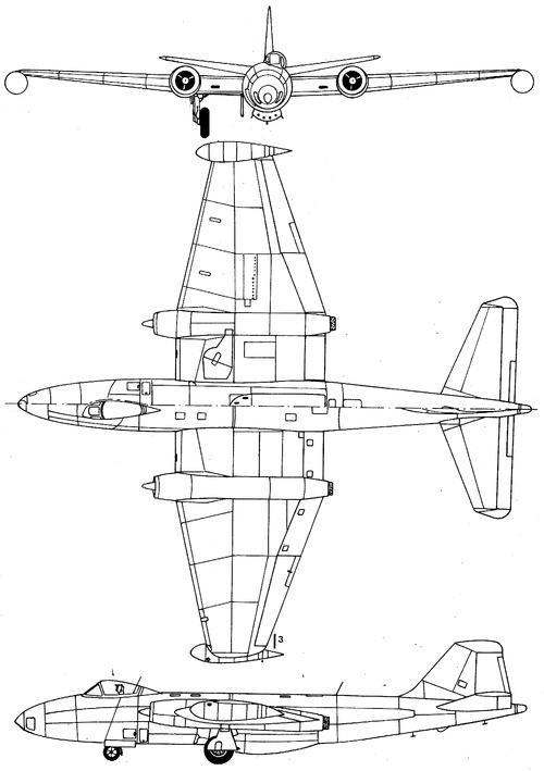 Blueprints modern airplanes modern e english electric canberra english electric canberra b2 malvernweather Choice Image