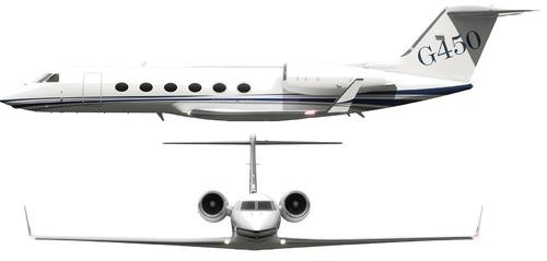 Blueprints modern airplanes modern g gulfstream g450 gulfstream g450 malvernweather Images