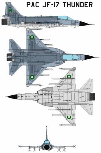 Blueprints modern airplanes modern op pac jf 17 thunder pac jf 17 thunder malvernweather Gallery
