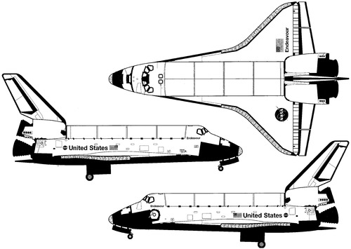 space shuttle cockpit dimension drawing - photo #38