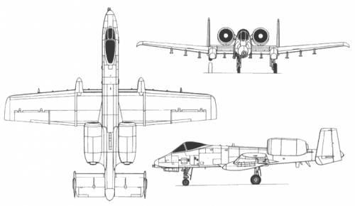A 10 Thunderbolt Drawing Fairchild Repub...