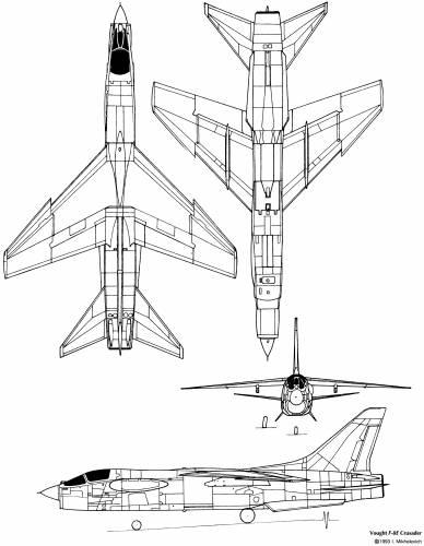 Blueprints > Modern airplanes > Vought > Vought F-8 Crusader
